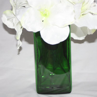 Jagermeister Recycled Bottle - Vase - Green Glass