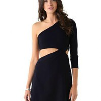 Starry Cutout dress black