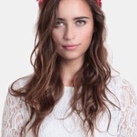 Forbidden Fruit Floral Crown - $30.00 : ThreadSence, Women&#x27;s Indie &amp; Bohemian Clothing, Dresses, &amp; Accessories