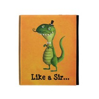 Sir T-rex with Moustaches iPad Folio Case from Zazzle.com