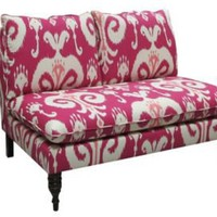 One Kings Lane - Bold  Beautiful - Himalaya Raspberry Settee