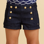 Juicy Couture - Toddler&#x27;s &amp; Little Girl&#x27;s Denim Sailor Shorts