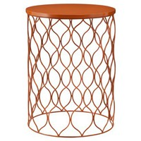 Accent Table Orange Wave