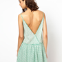 BA&amp;SH Low Back Sundress in Printed Cotton