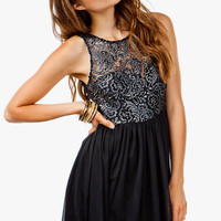 Foil Coated Lace Princess Dress