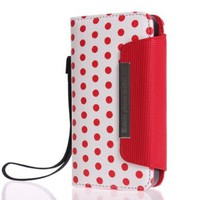 Colorful Polka Dot Wallet Flip Case Pouch Cover for iPhone 4 4s:Amazon:Cell Phones &amp; Accessories