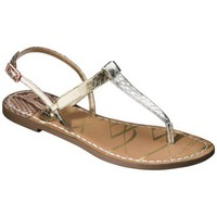 Women&#x27;s Sam &amp; Libby Kamila Thong Sandal with Back Strap - Metallic