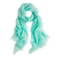 Soft Mint Linen scarf - scarves & hats - Women's accessories - J.Crew