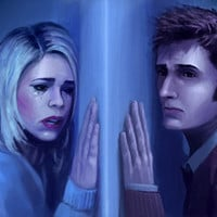 Doctor Who - The Doctor and Rose Art Print by SteveSketches