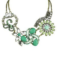 Bib Frontal Necklace - Mint