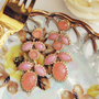 Just Peachy Earrings, Sweet Bohemian Jewelry