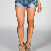 ALMOST FAMOUS Womens Cutoff Denim Shorts