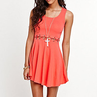 Kirra Waist Lace Up Dress at PacSun.com