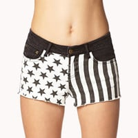 Stars & Stripes Denim Cut Offs | FOREVER 21 - 2026275674