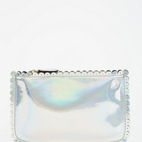 Deena &amp; Ozzy Scalloped Oil Slick Zip-Pouch
