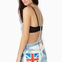 Union Jack Cutoff Shorts