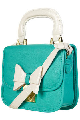 Turquoise Lady Bow Bag