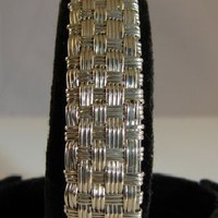 Argentium Sterling Silver Basketweave Handcrafted on Handmade Artists&#x27; Shop