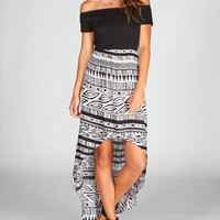 FULL TILT Off Shoulder Hi Low Dress