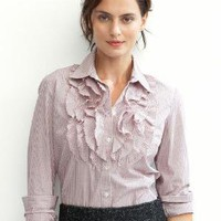 Tattersall ruffle shirt