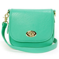 Going Places Teal Purse