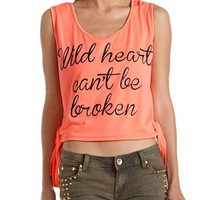 Wild Hearts Side Tie Tank: Charlotte Russe