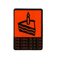 Portal The Cake Is A Lie Sticker | Hot Topic
