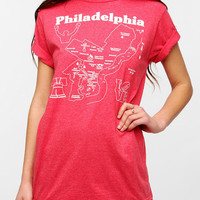 Maptote Philadelphia City Map Tee