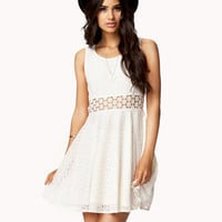 Crochet Panel Lace Dress