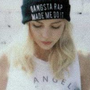 "Brandy Melville ""Gangsta Rap Made Me Do It"" Beanie"