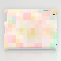 Re-Created Colored Squares No. 18 iPad Case by Robert Lee
