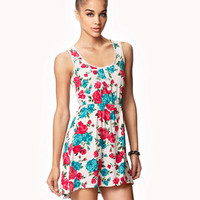 Tea Rose Print Dress