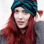 Velvet Turban Headband - Bottle Green from Crown and Glory
