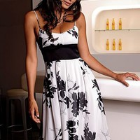 White Floral print dress from VENUS