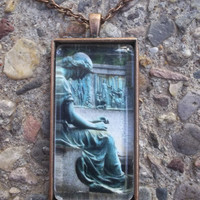 A Time To Be Spiritual Statue Pendant Necklace