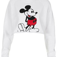 Mickey Crop Sweat - Bralets &amp; Cropped Tops - Jersey Tops  - Clothing