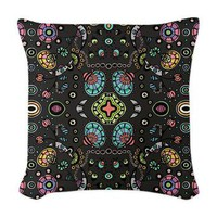 Funky Bloom Woven Throw Pillow&gt; Throw Pillows&gt; Janet Antepara Designs