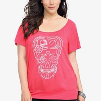 Twist Tees - Poppy Red Sugar Skull Tee | Edge Up Summer