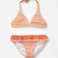 Girls 7-14 Reversible '70s Halter Bikini Set With Cups - Roxy