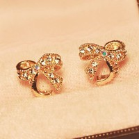 Simply Bow Rhinestone Earrings | LilyFair Jewelry