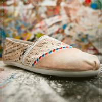Love Letter Air Mail TOMS shoes 