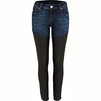 Black leather look Olive superskinny jeans - jeans - sale - women
