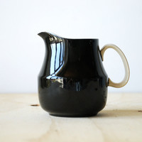 Mikasa Cream Pitcher Black and White Mikasa Cera-Stone Mid Century Modern