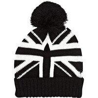 Black and white union jack beanie hat - hats - accessories - men