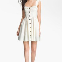 Betsey Johnson Button Detail Fit &amp; Flare Dress | Nordstrom