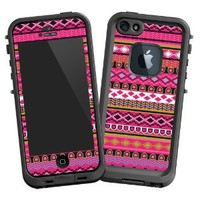"Pink Geometric Tribal ""Protective Decal Skin"" for Lifeproof iPhone 5 Case"