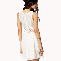 Crochet Panel Lace Dress | FOREVER 21 - 2051881076