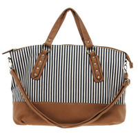 New Look | New Look Canvas Donovan Stripe Shopper at ASOS