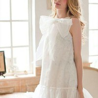 White big bow A-line dress from SweetiePie524
