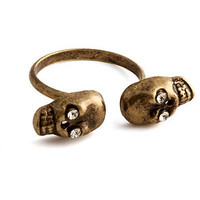 Mod4rn Trend Ring Mirrored Skulls in Gold